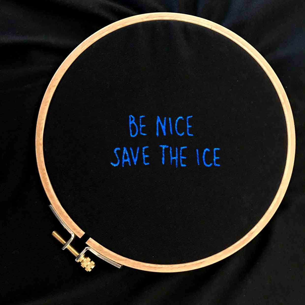 The SAVE THE ICE wide neck tee