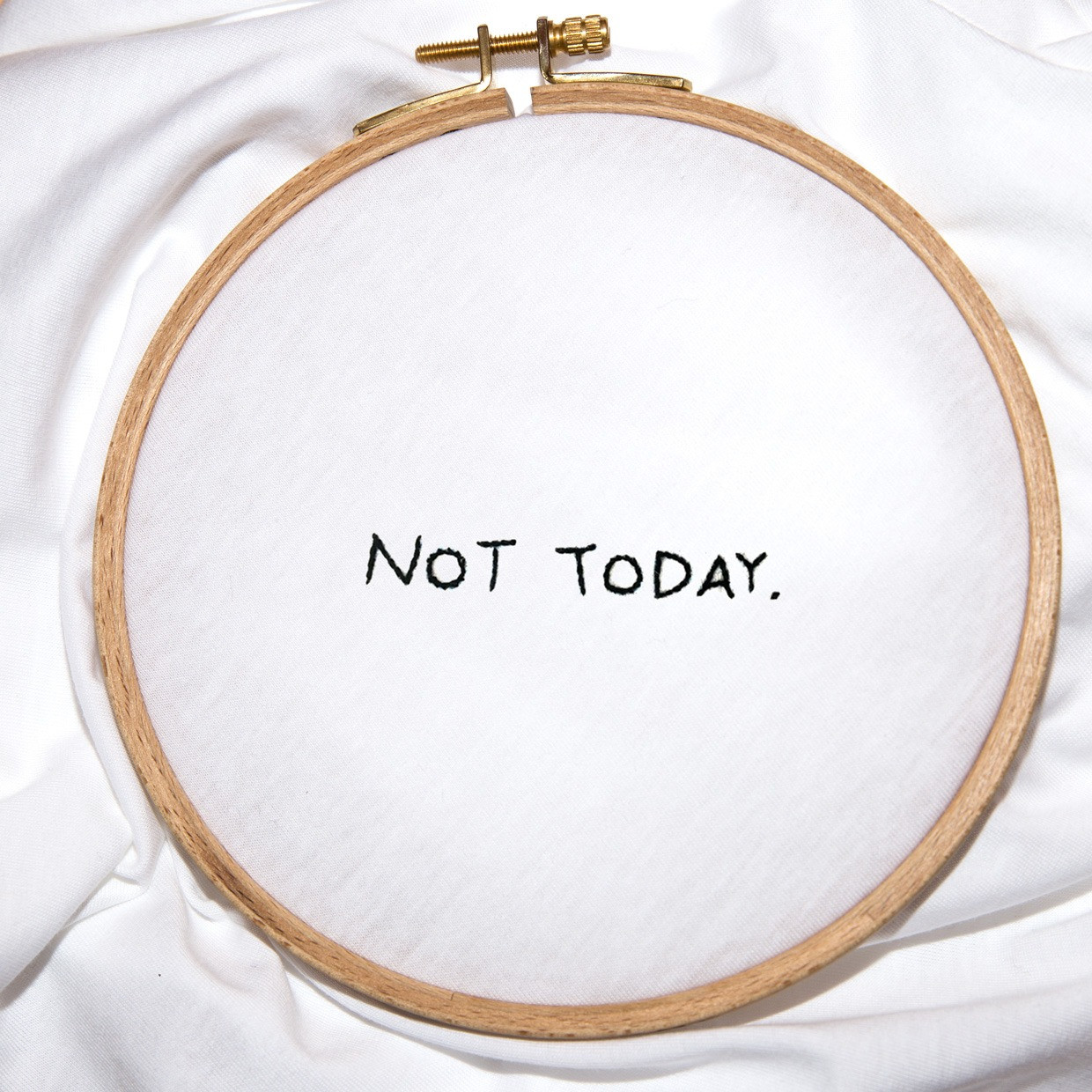 The NOT TODAY slim fit tee