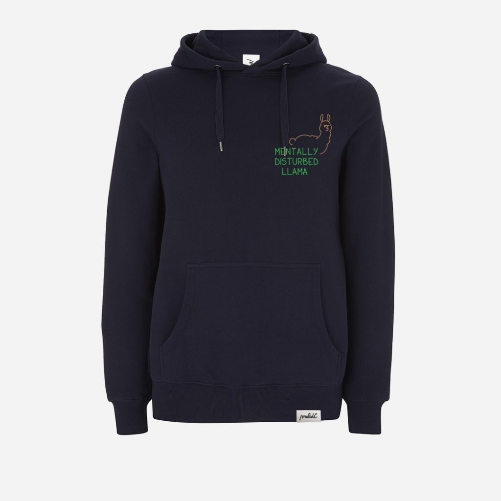 The MENTALLY DISTURBED LLAMA hoodie