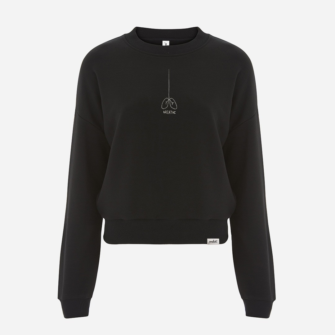 The BREATHE cropped sweatshirt