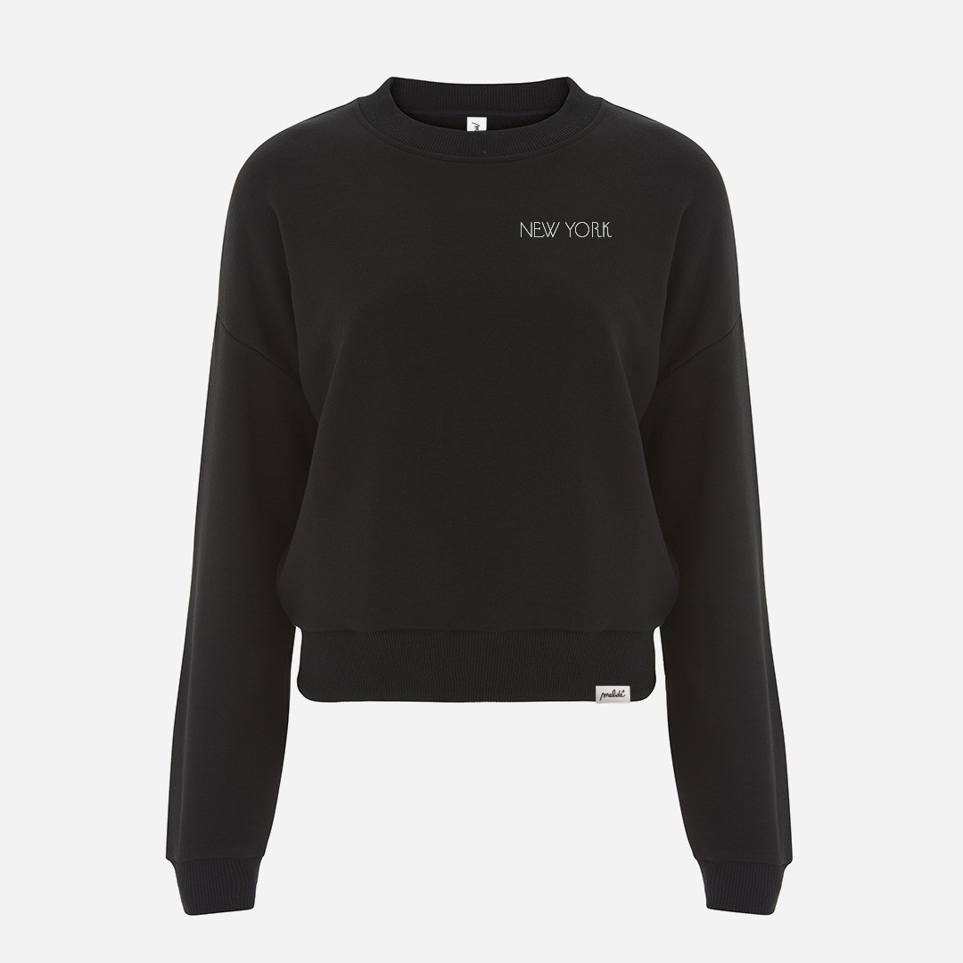 The NEW YORK cropped sweatshirt