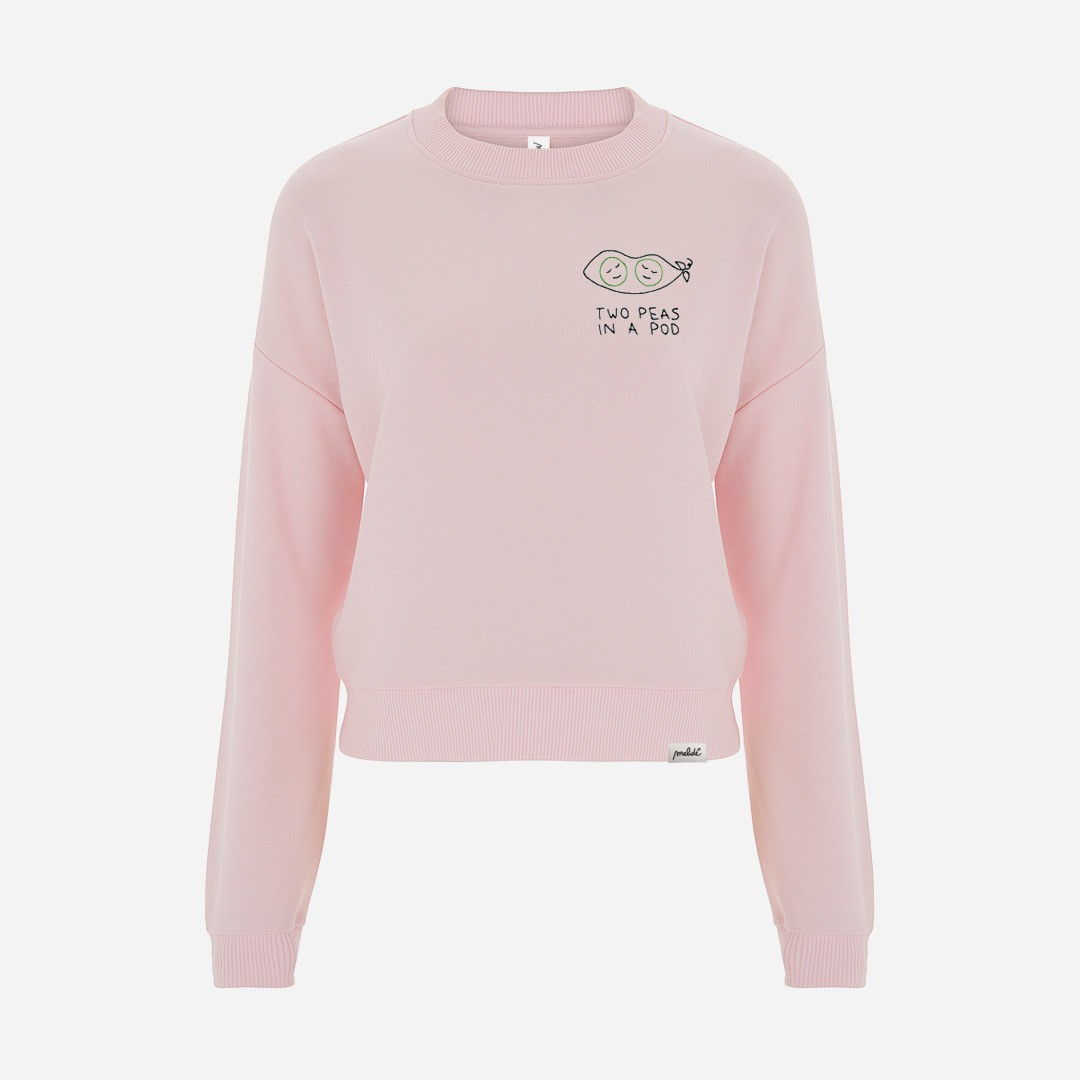 The TWO PEAS IN A POD cropped sweatshirt
