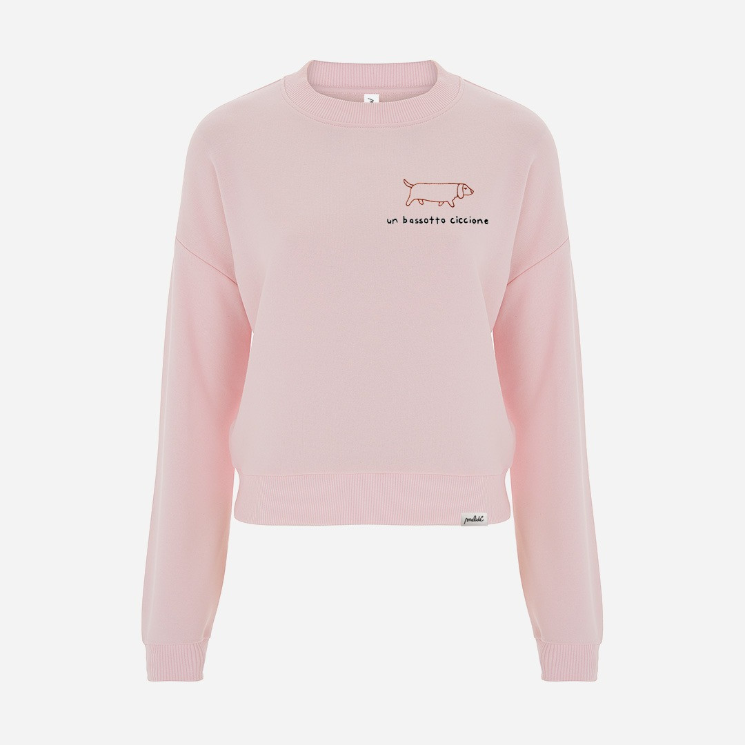 The BASSOTTO CICCIONE cropped sweatshirt