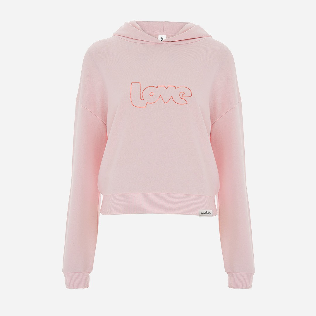 The PINK LOVE cropped hoodie