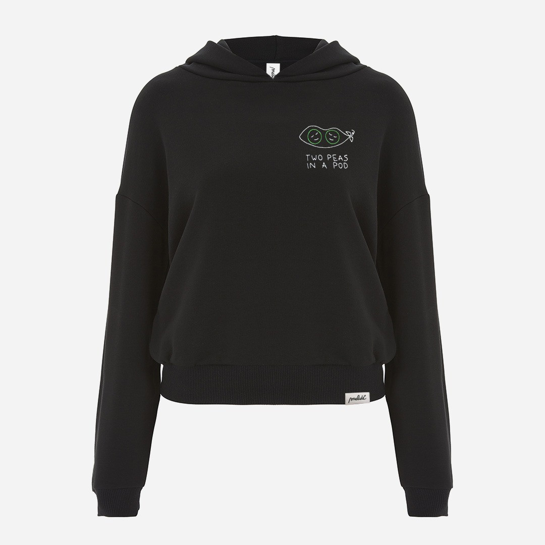 The TWO PEAS IN A POD cropped hoodie