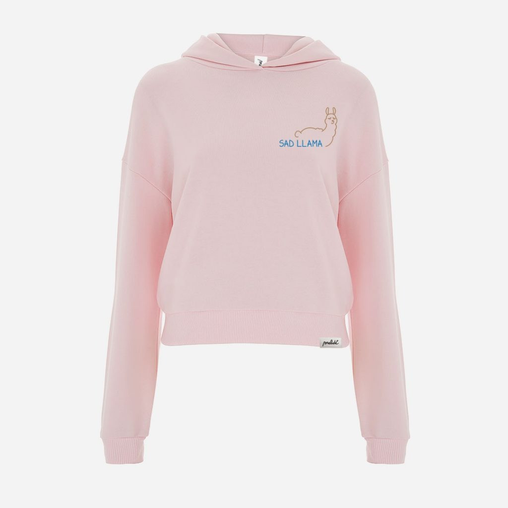 The SAD LLAMA cropped hoodie