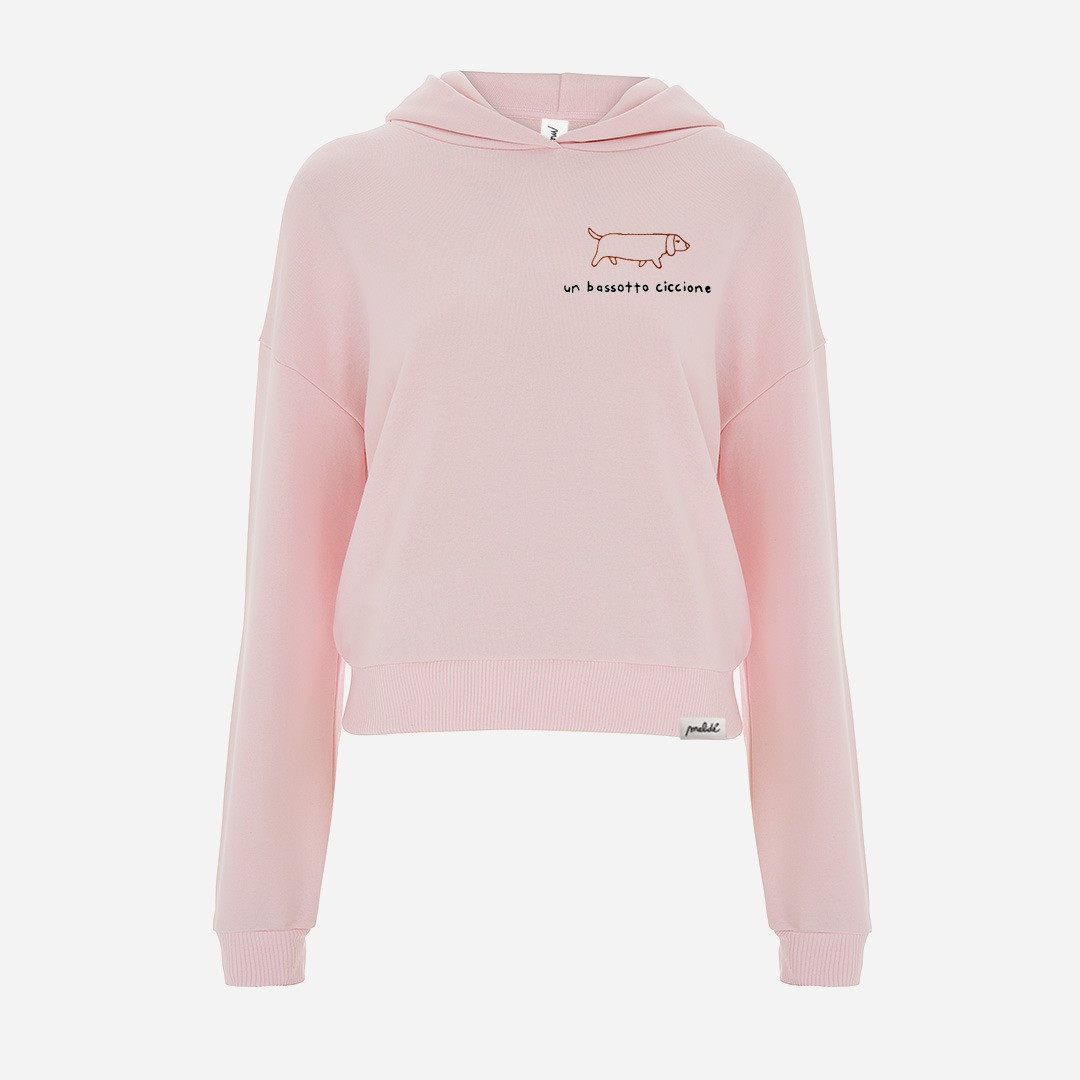 The BASSOTTO CICCIONE cropped hoodie