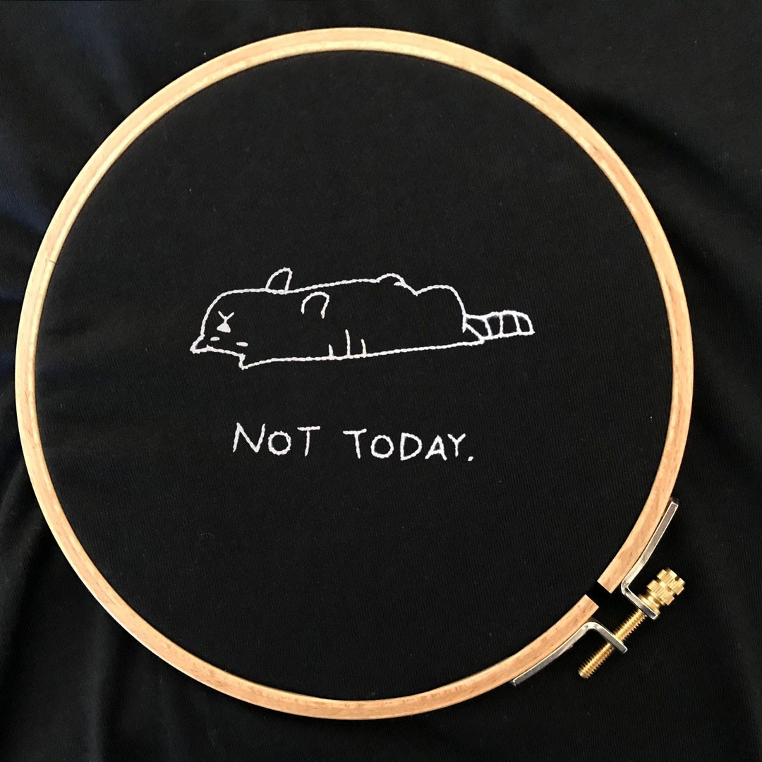 The NOT TODAY- cat Tee
