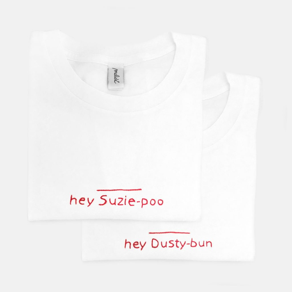 The SUZIE & DUSTIN tees