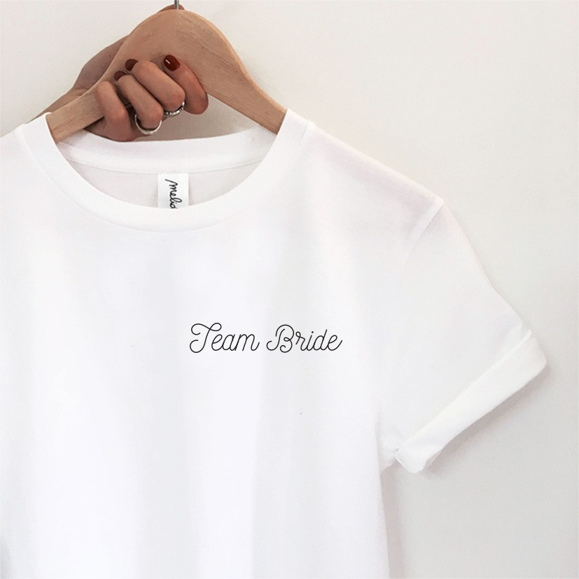 The TEAM BRIDE tee