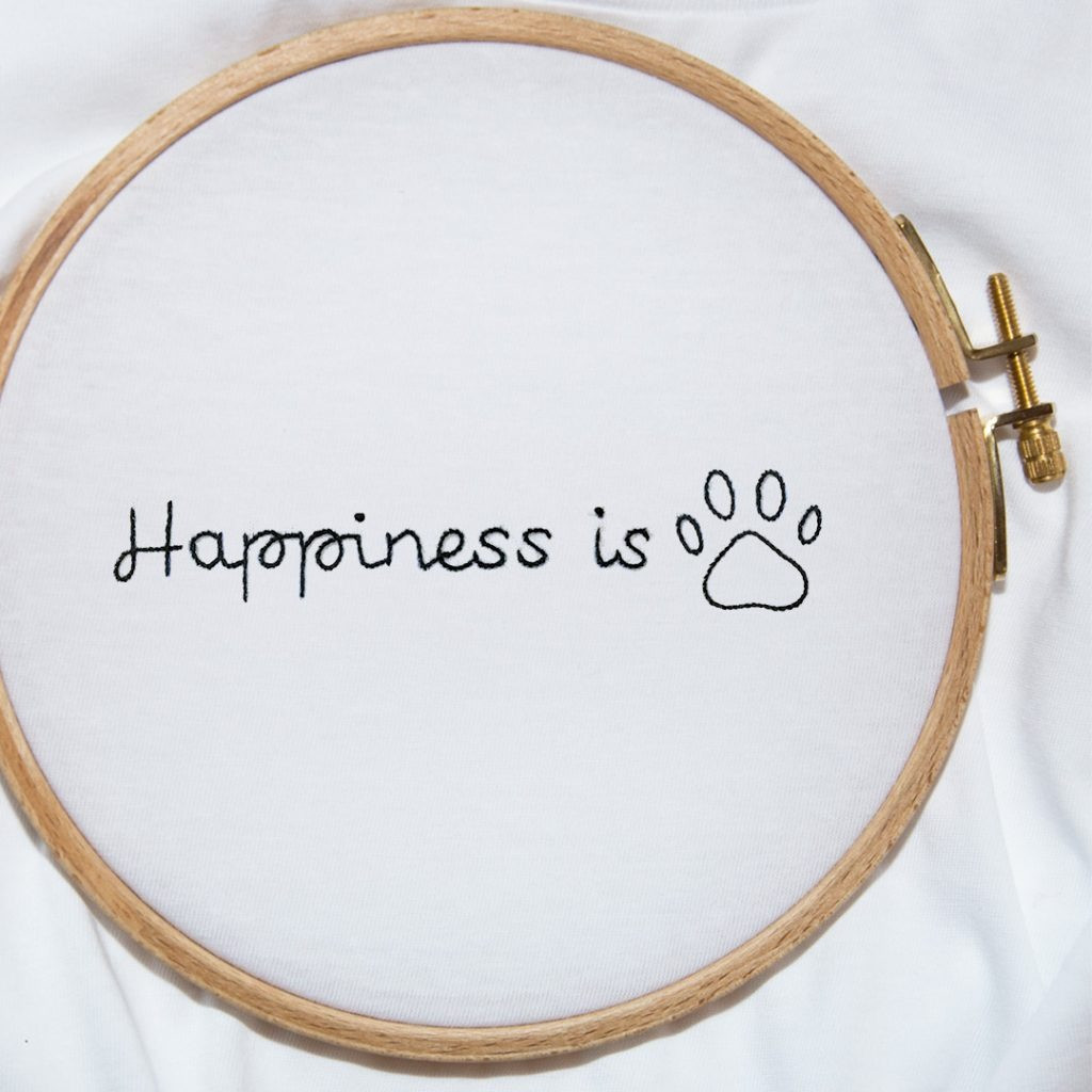 The HAPPINESS IS - Dog tee