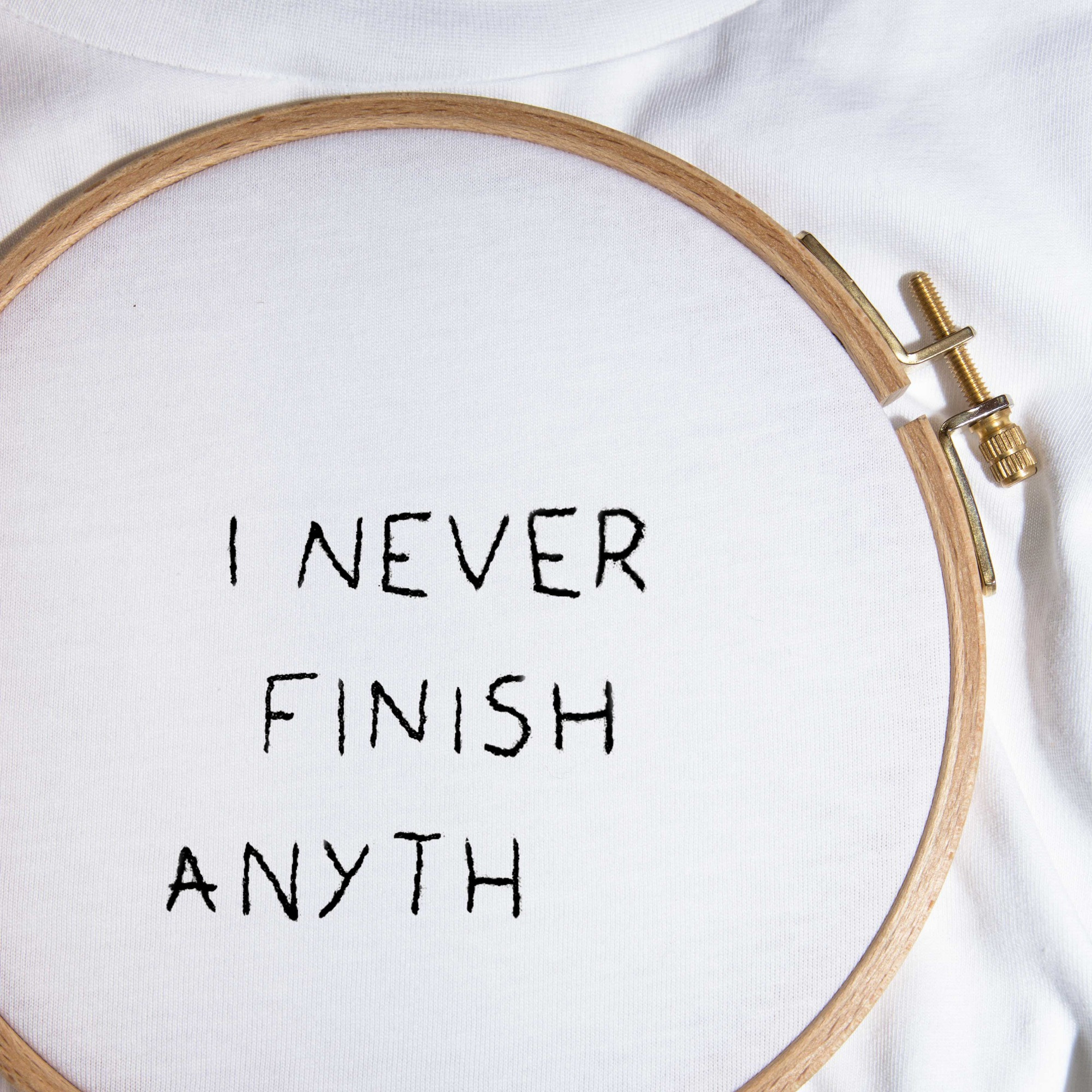 The I NEVER FINISH tee