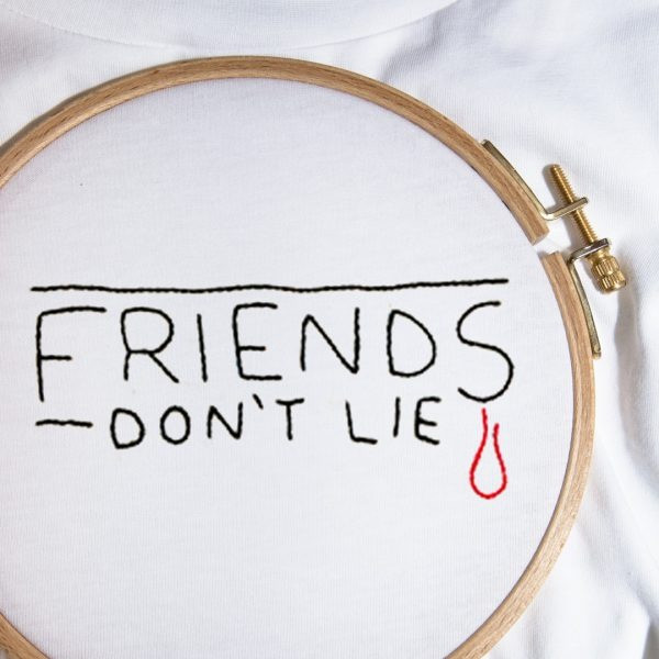 The FRIENDS DON'T LIE tee
