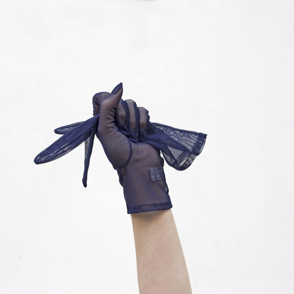 The BLUE TULLE gloves