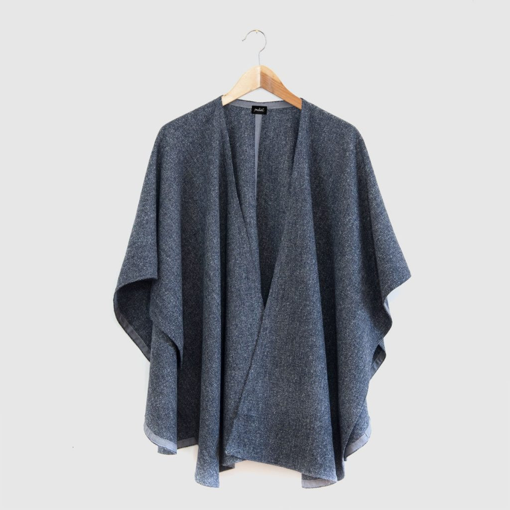 The CACHEMIRE cape - grigio