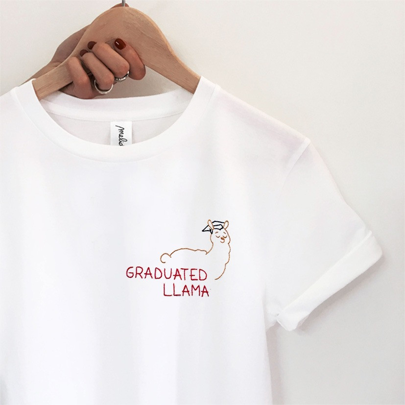 The GRADUATED LLAMA tee