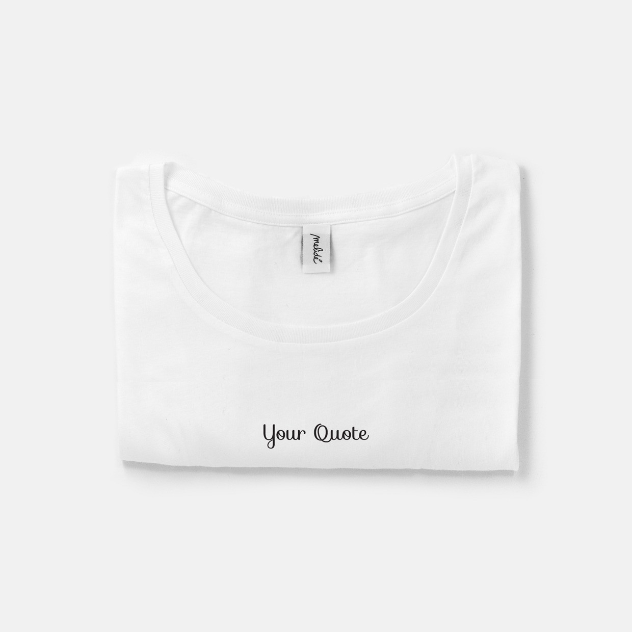 The YOUR QUOTE wide neck tee