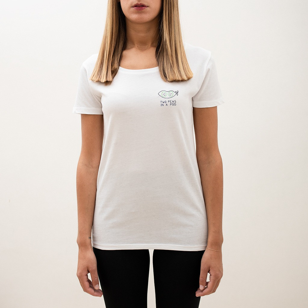 The TWO PEAS IN A POD wide neck tee - melidé x Giulia Valentina