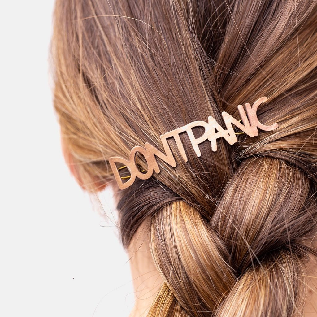 The DON'T PANIC Barrette