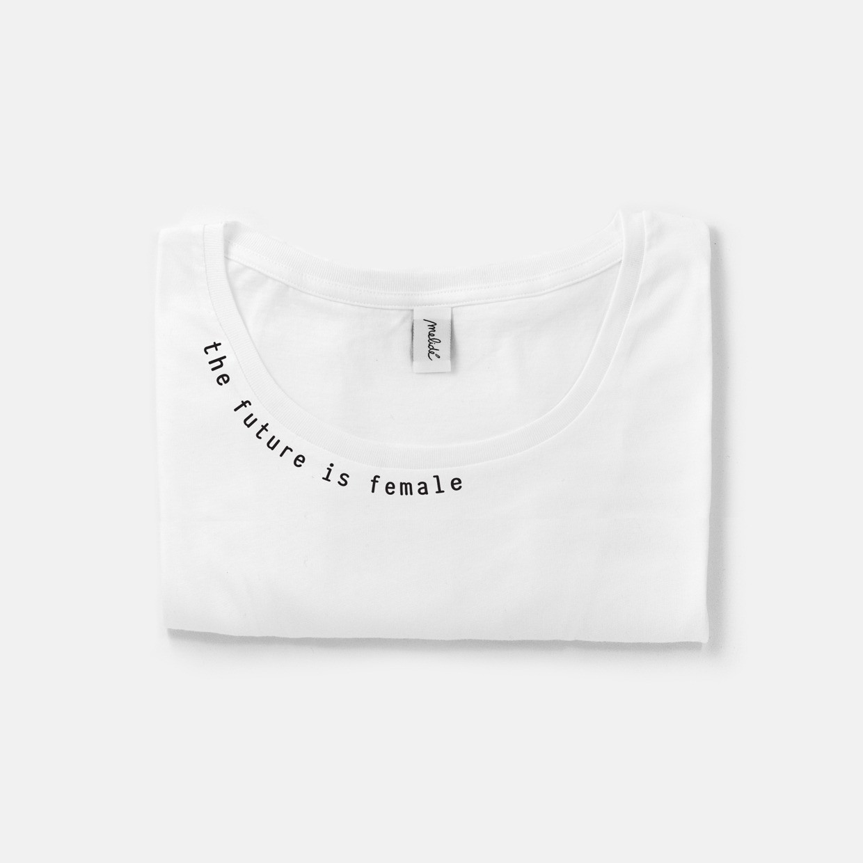 The FUTURE IS FEMALE wide neck tee