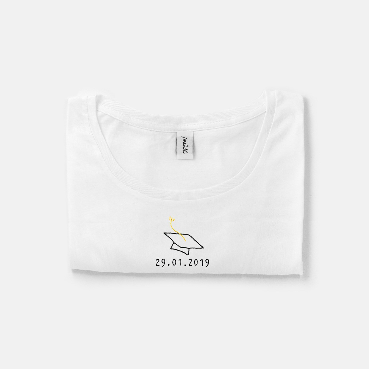 The GRADUATION DAY wide neck tee - hat