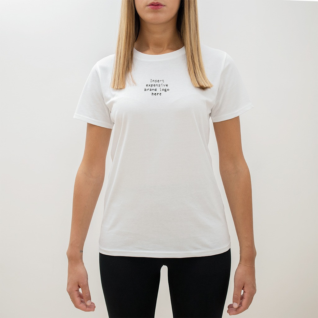 The EXPENSIVE LOGO ultimate woman tee