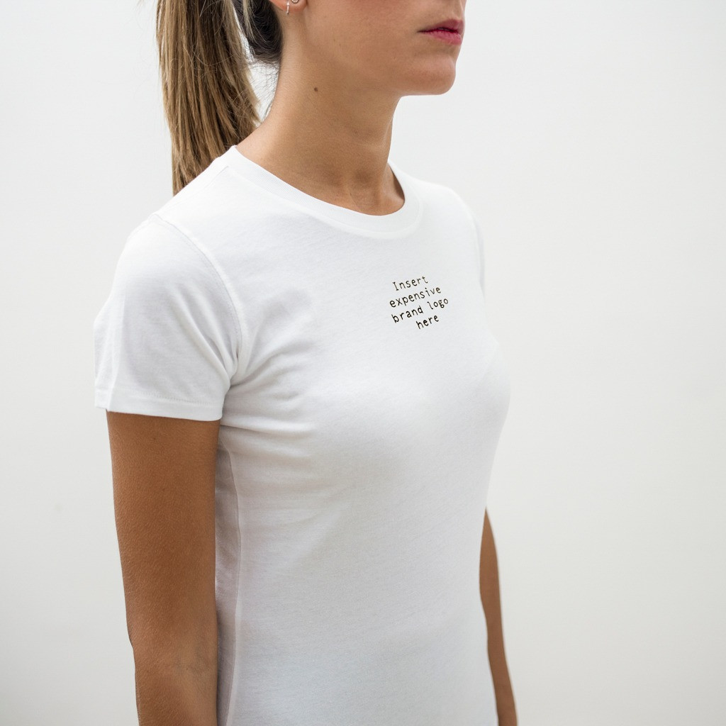 The EXPENSIVE BRAND LOGO slim fit tee