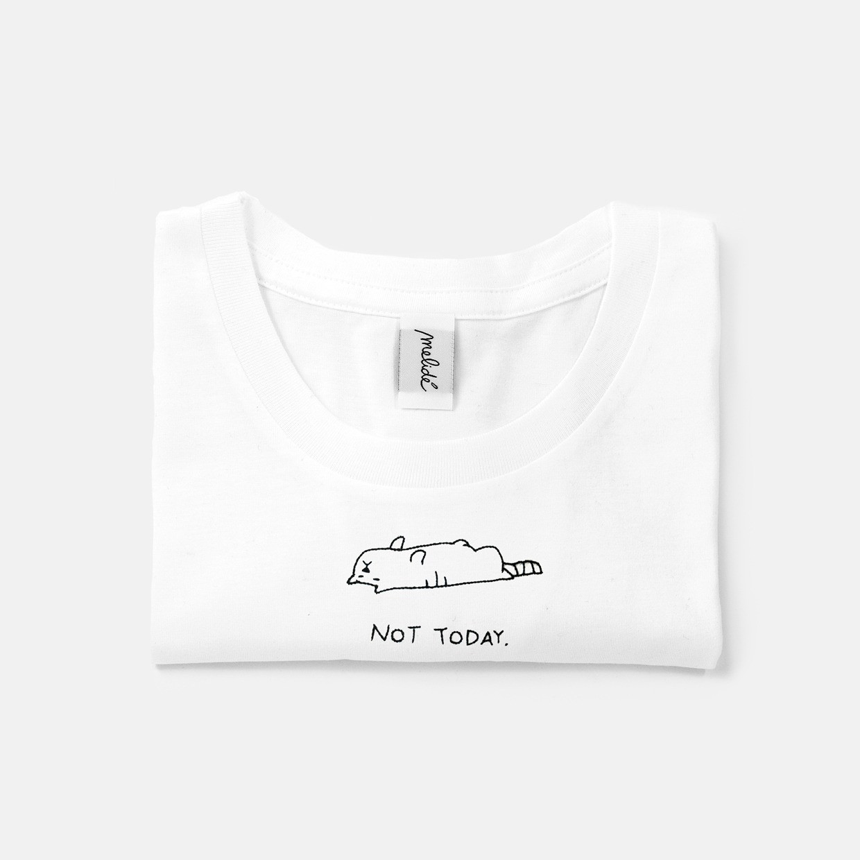 The NOT TODAY - cat slim fit tee