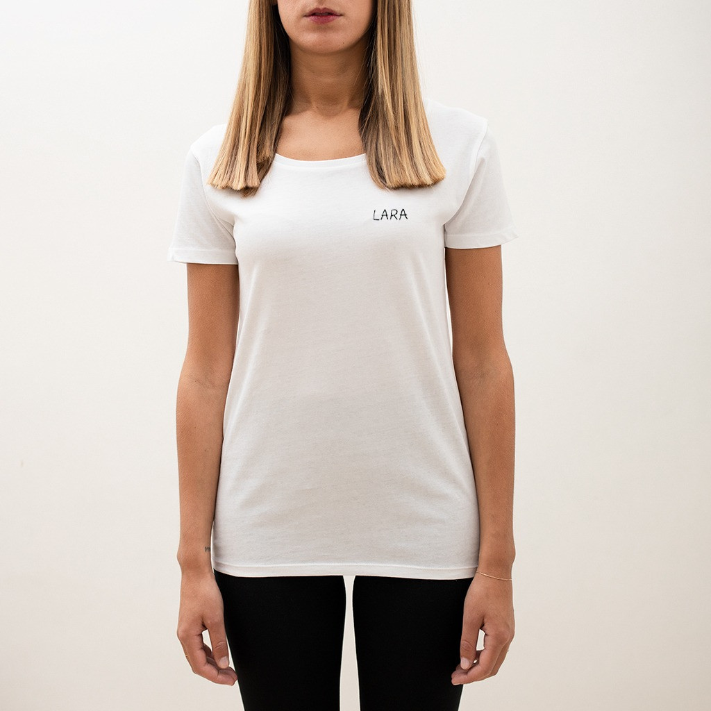 The SAY MY NAME wide neck tee