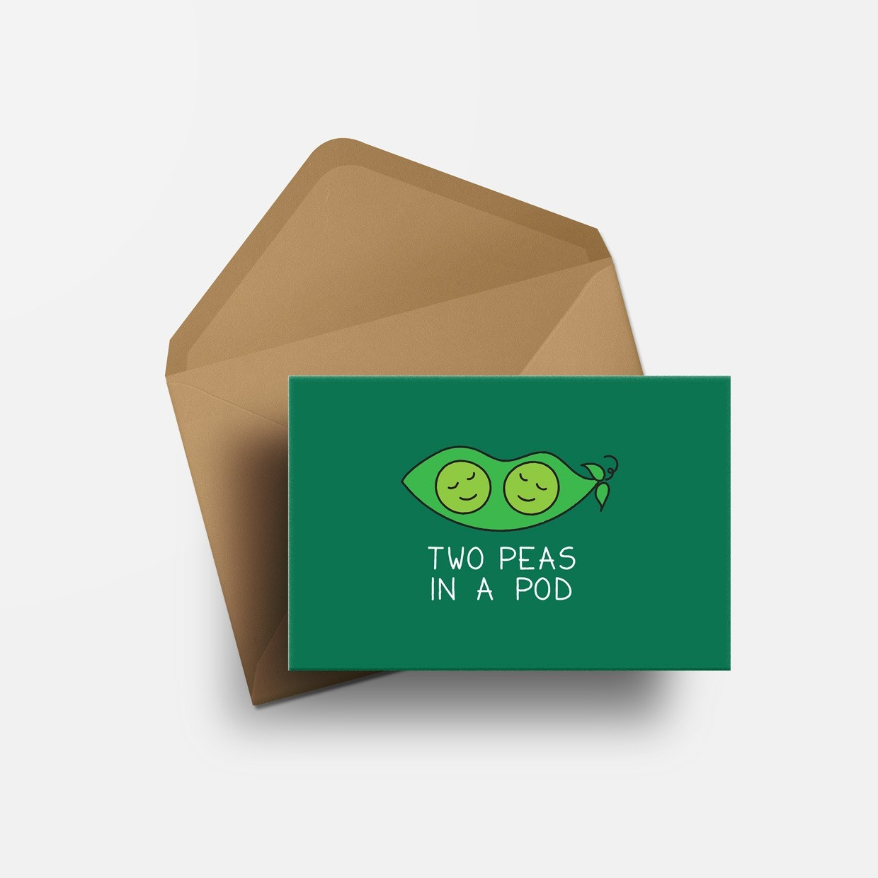 The TWO PEAS IN A POD card - verde