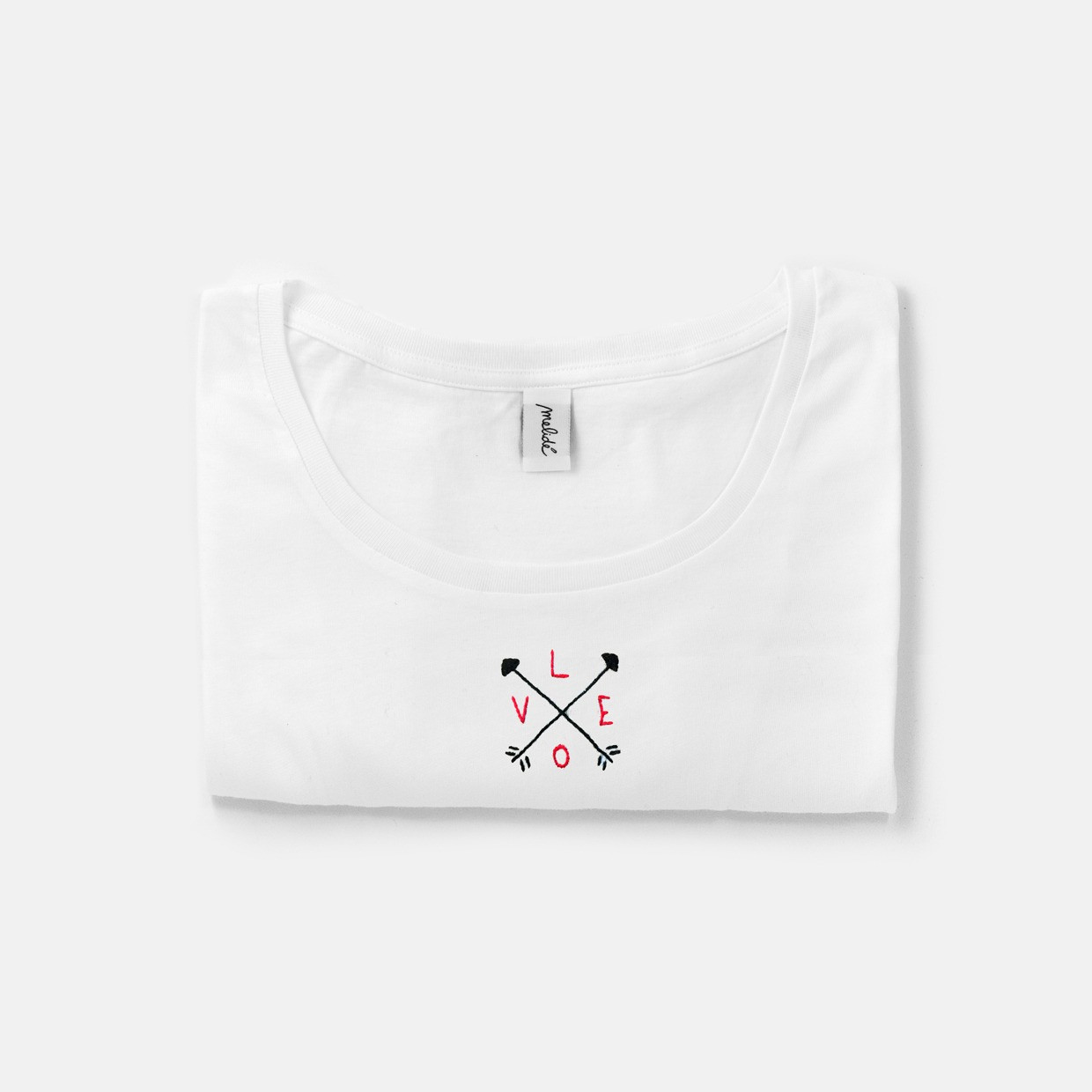 The UNIVERSAL LOVE wide neck tee