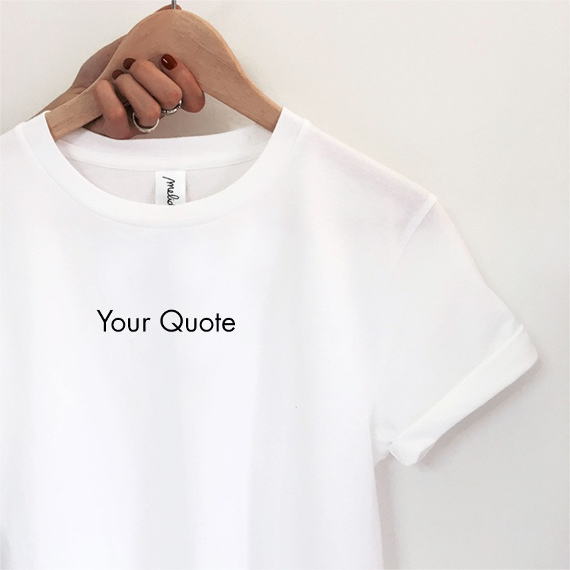 T-shirt YOUR QUOTE + ANATOMIA kit