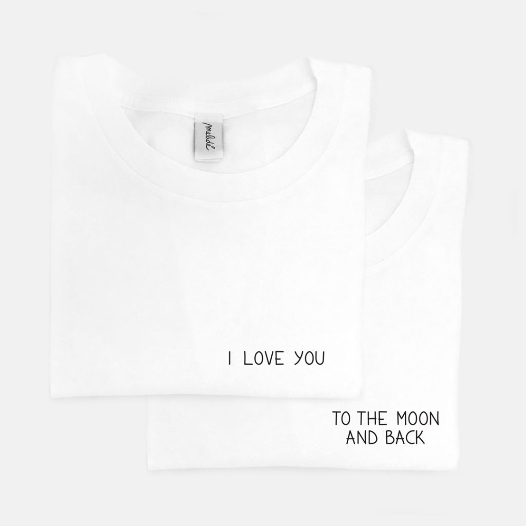 The I LOVE YOU TO THE MOON AND BACK Tees x2