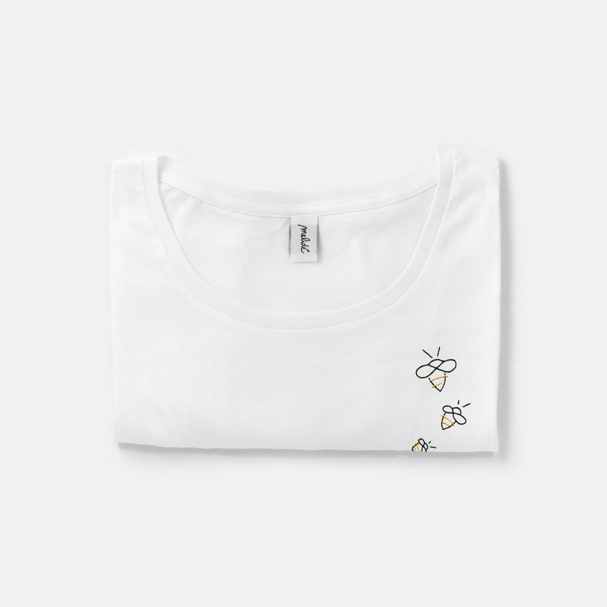 The THREE BEES wide neck tee