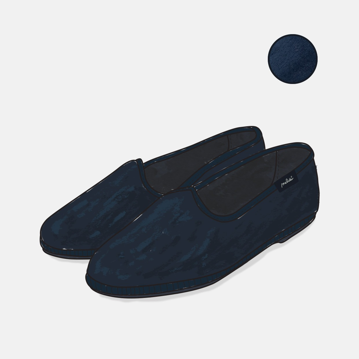 The COSY shoes - blu notte