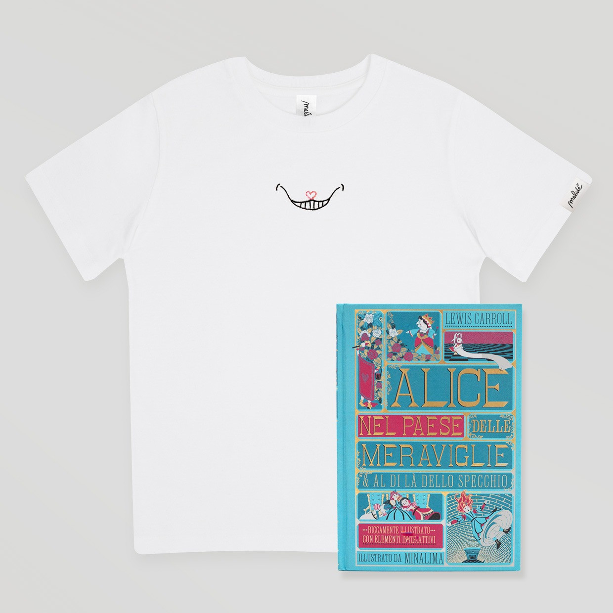 T-shirt kids Stregatto + libro pop-up