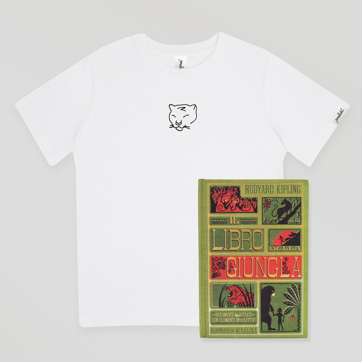 T-shirt kids Bagheera + libro pop-up