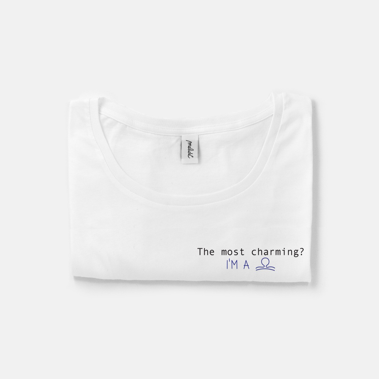 The MOST CHARMING? LIBRA wide neck tee