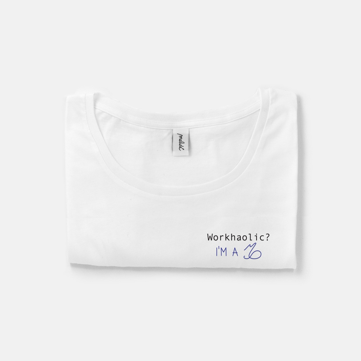 The WORKAHOLIC? CAPRICORN wide neck tee