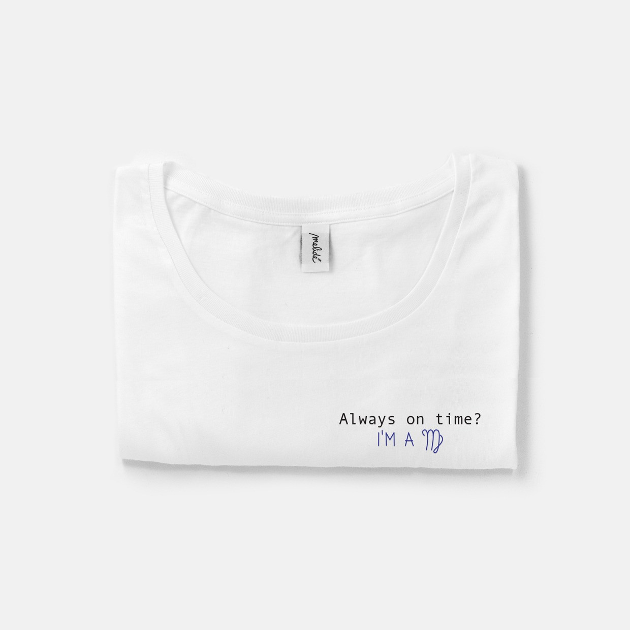 The ALWAYS ON TIME? VIRGO wide neck tee