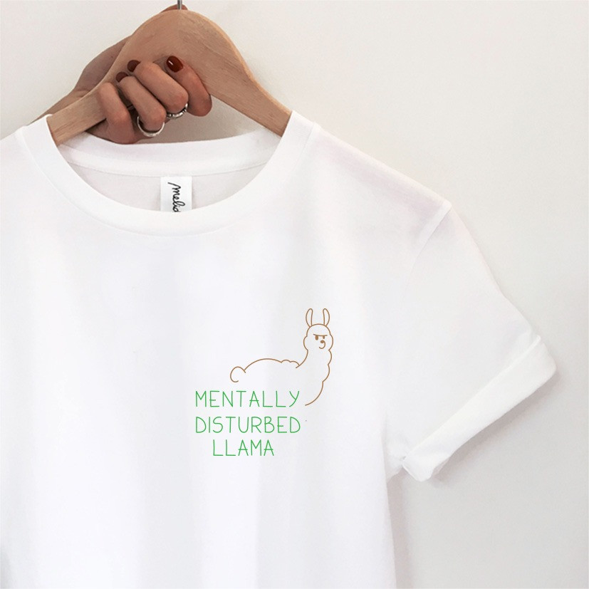 The MENTALLY DISTURBED LLAMA Tee