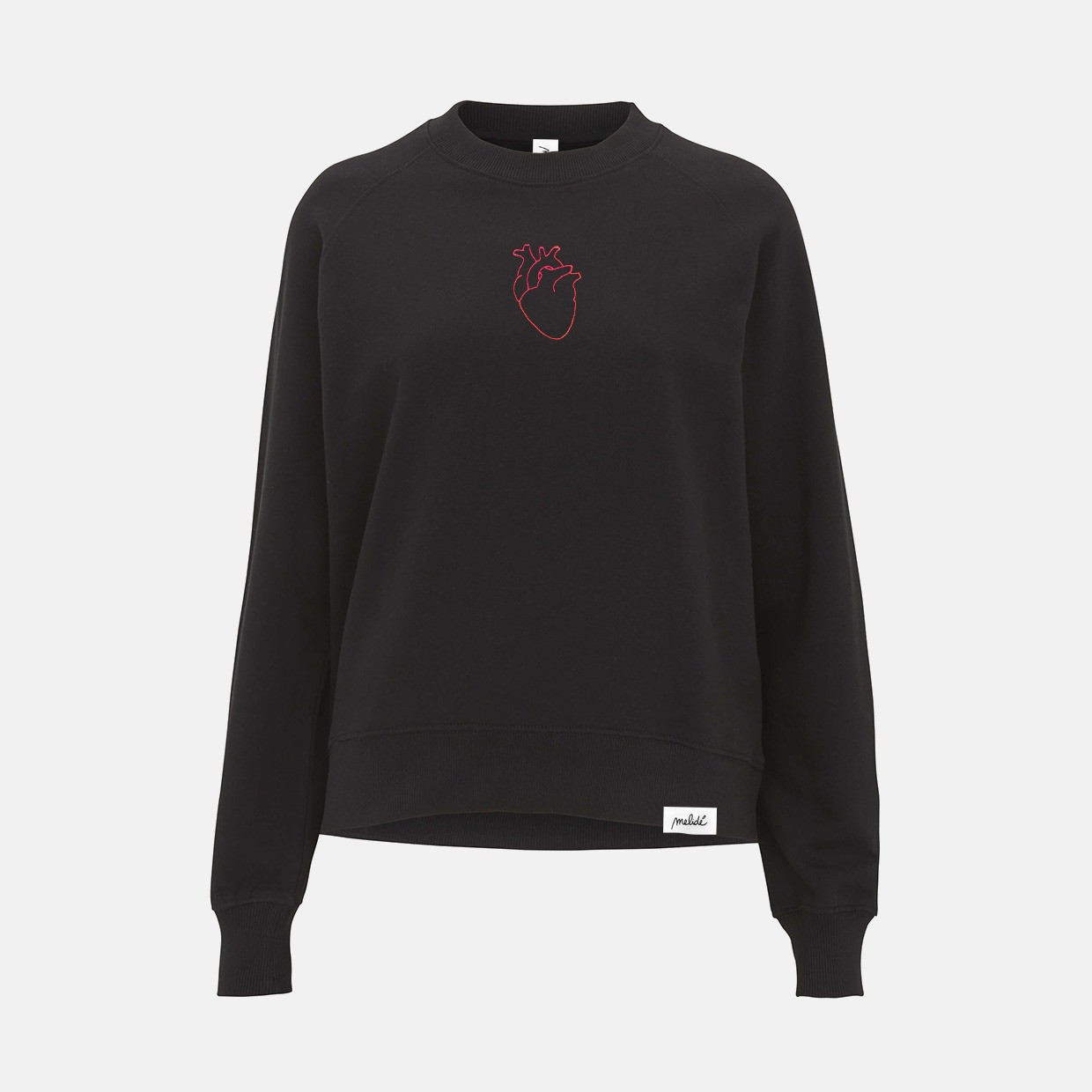 The LINEHEART raglan sweatshirt