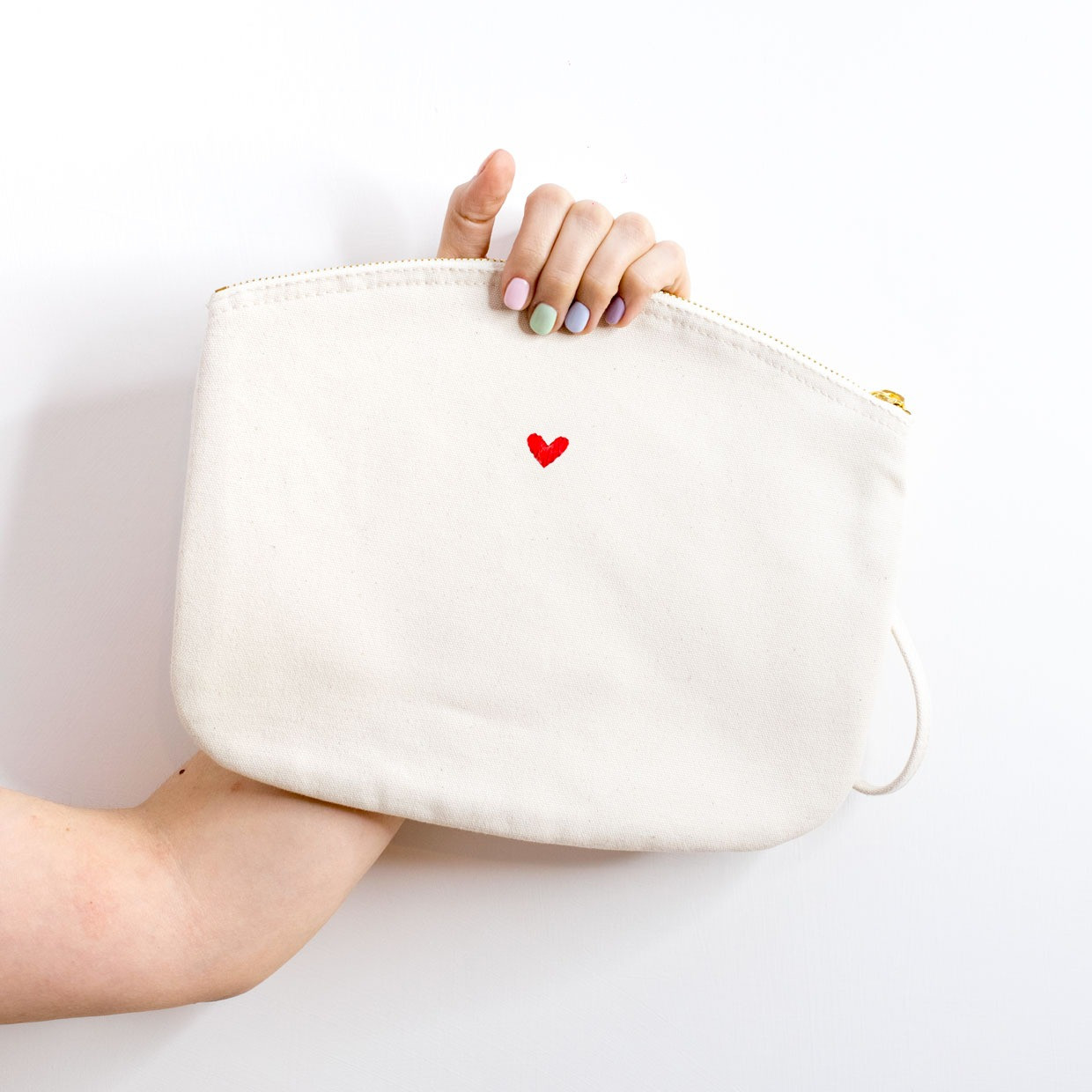 The ZIPPED POUCH L - cuoricino