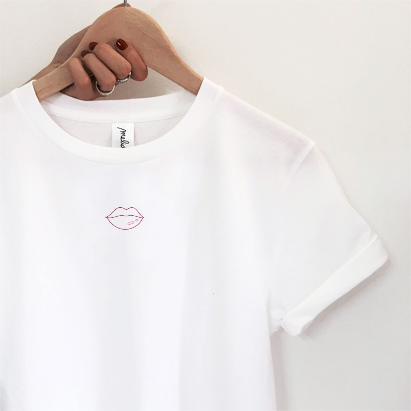 my melidé - The LIPS + ROSSETTO kit - wide neck tee