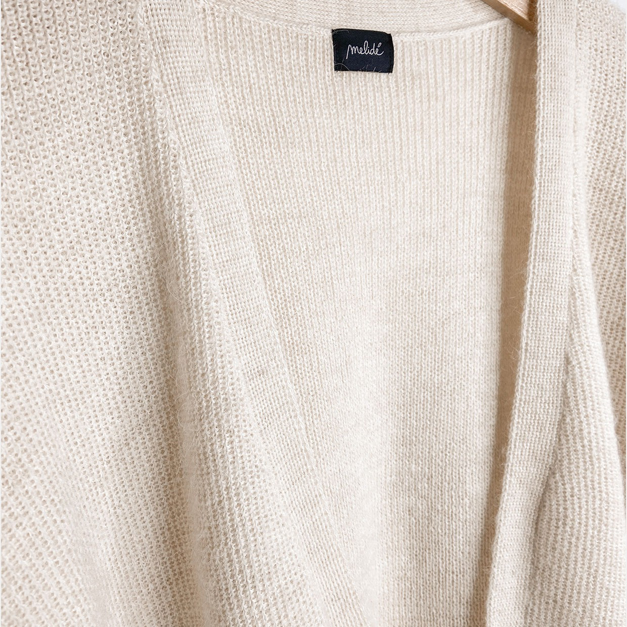 The PLAIN cardigan - alpaca panna