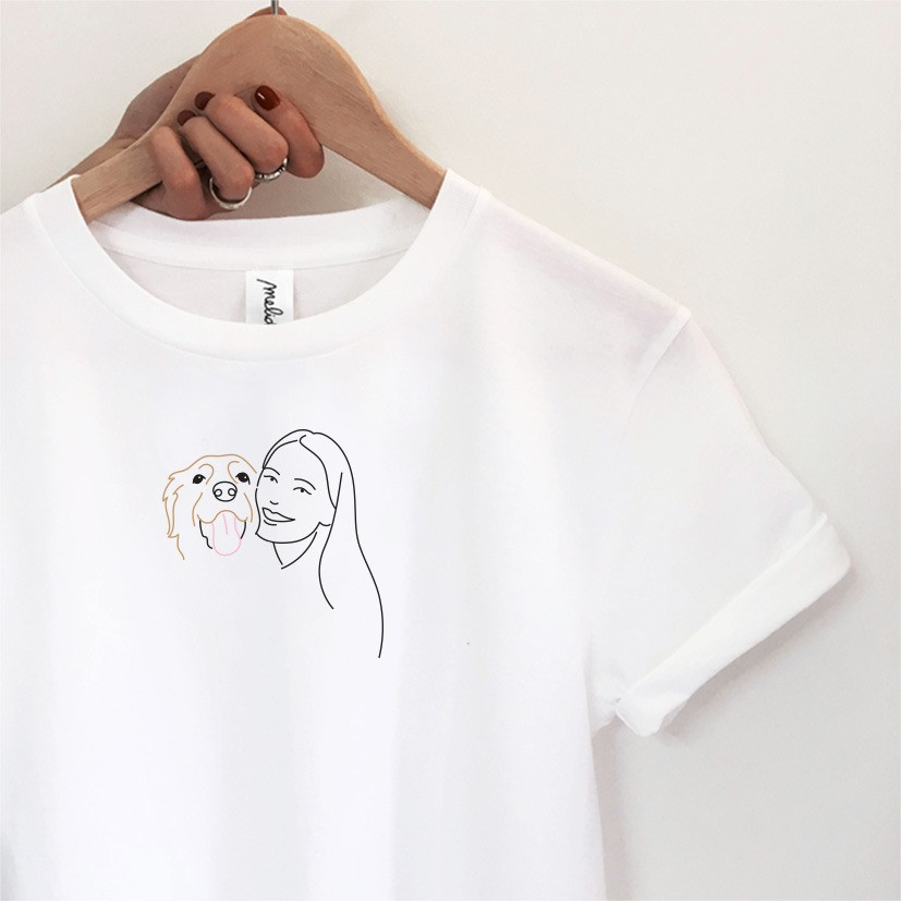my melidé - The DOG AND GIRL slim fit tee