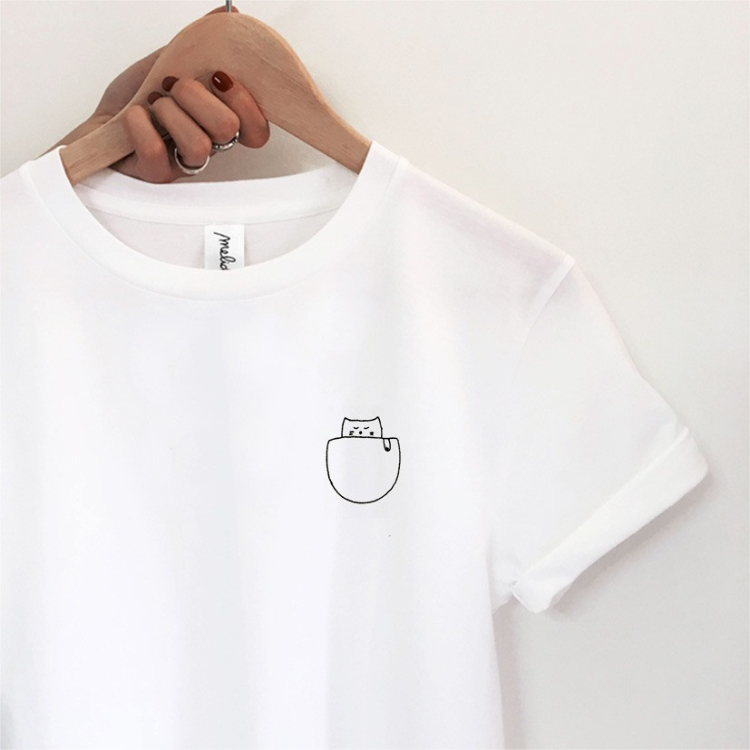 The CAT IN THE POCKET Tee
