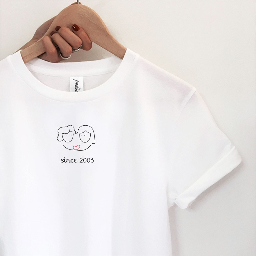 The PERSONALIZED FRIENDS tee