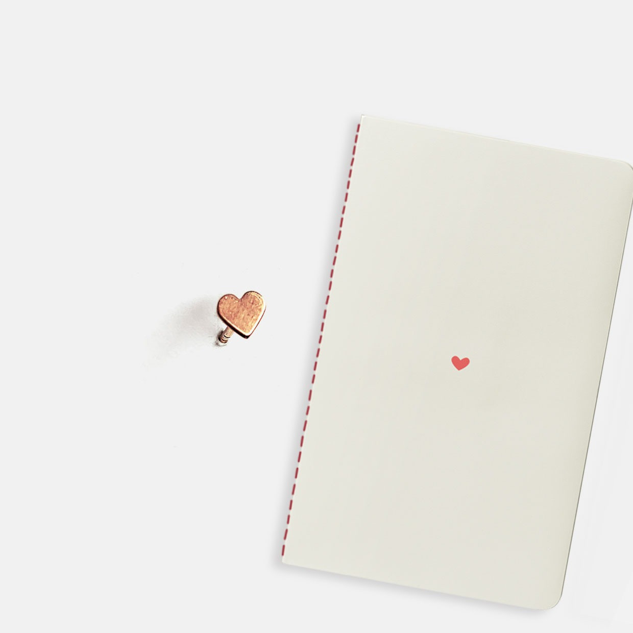 The YÉ-YÉ kit - earring cuore + notebook