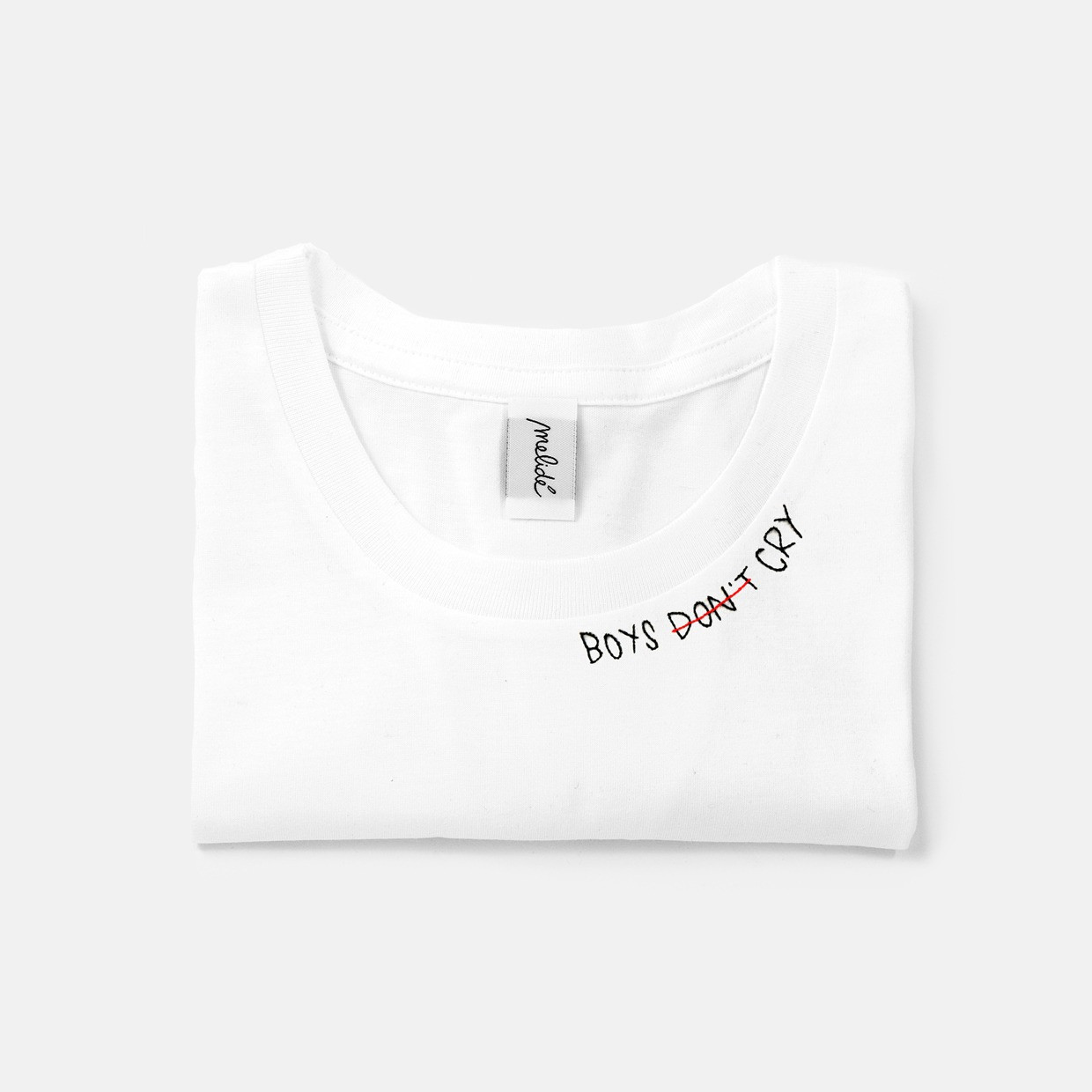 The BOYS DON'T CRY slim fit tee - melidé X Florencia